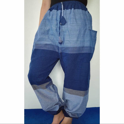 Blue Hemp Pant For Women