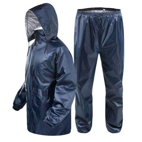 Navy Rainproof Outdoor Splits Raincoats and Rain pants