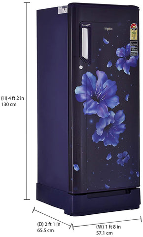 Whirlpool 245 L 3 Star Inverter Direct-Cool Single Door Refrigerator with Auto-Defrost Technology (260 ICEMAGIC PRO ROY 3S INV, Sapphire Hibiscus)