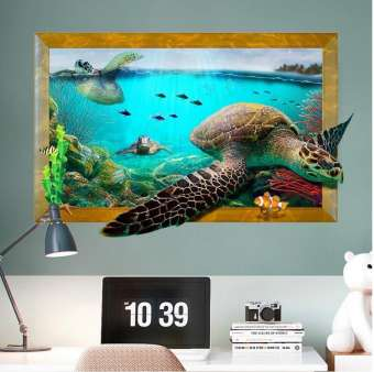 Sea Tortoise 3D Decorations Wall Stickers (mws9265)