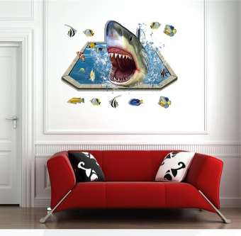 Shark Sea World Home Decor Wall Stickers (mws9023)