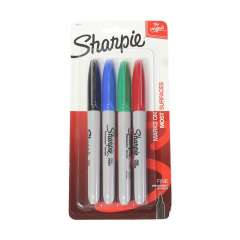 Sharpie Fine Permanent Marker (30174) - 4 Colours
