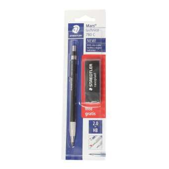 Staedtler Black Mars Technico 780 C Lead Holder With Free Eraser