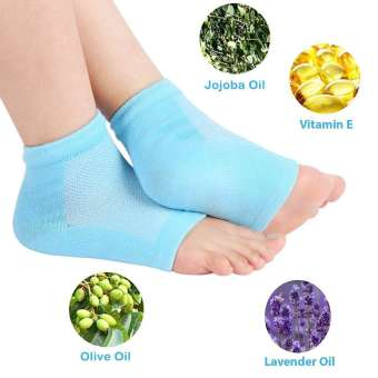 Unisex Silicone Gel Heel Socks with Spa Botanical GelPad