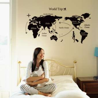 World Trip Travel Map Decor Wall Stickers (mws7225)