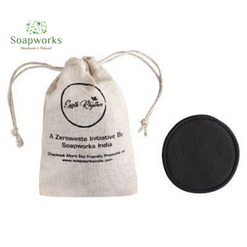 Soapworks Charcoal Bamboo Facial Cleansing Pads - Set Of 3
