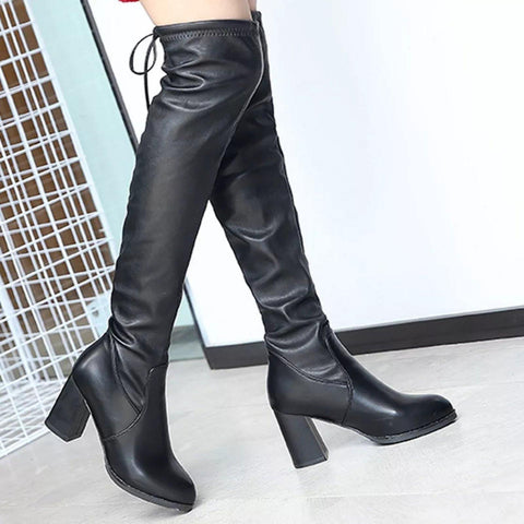 Fabulous Leather Women Fashion Hoof Heels Boots ( Nep-1) price in Nepal