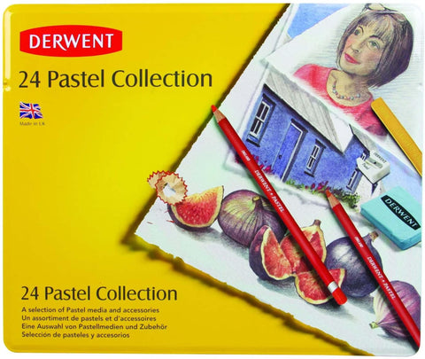 Derwent Pastel Collection, Metal Tin, 24 Count (0700301)