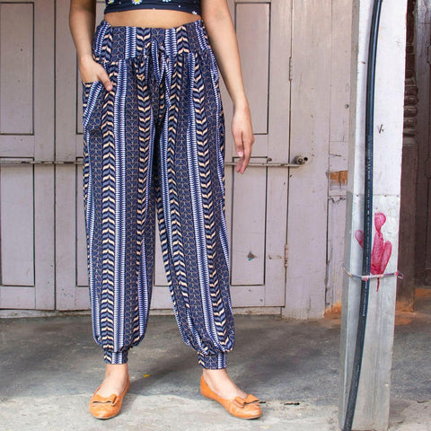 Floral Printed Cotton Plaso Styled Trousers(print may very) By Arushi price in nepal