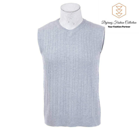 2020 Men Knitting Sweater Vest Solid Color Cashmere Sweaters Sleeveless Pullover Men V-Neck Slim Knitted Waistcoat By Bajrang price in nepal
