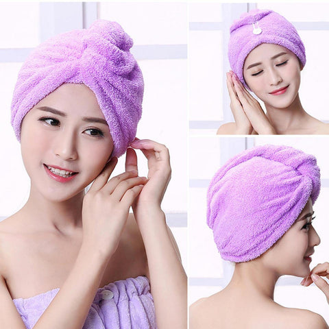 1 Piece Hair Drying Towel Head Wrap Absorbent Quick Dry Bath Towels For Hair
