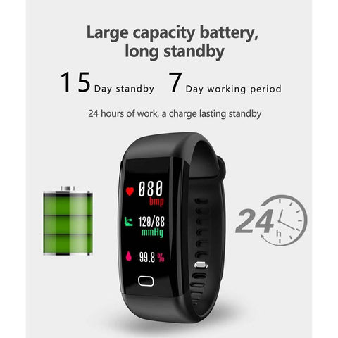 F07 Oled Color Screen Bluetooth Smart Band Bracelet Ip68 Waterproof price in nepal