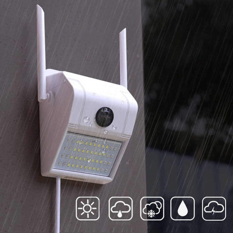 Smart 1080P Waterproof Wall Lamp Ip Camera 180° Panoramic Night Vision Detection Smart Baby Sleeping Monitor