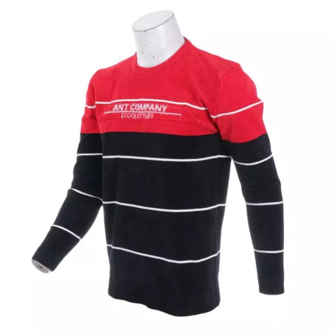 Men's Sweater 2020 Casual Striped Solid Color Sweater Men's Half-High Collar Stretch Tight Sweater Slim Knit Top By Bajrang