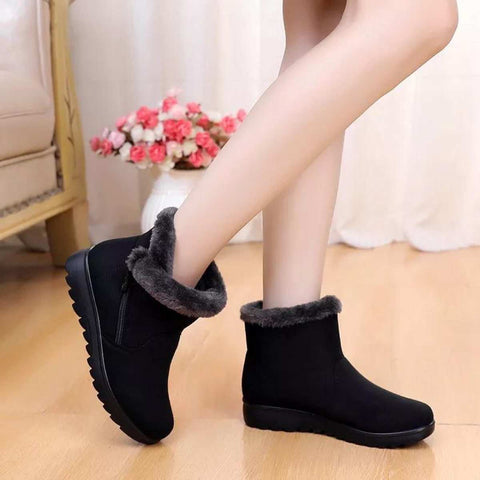 Women Winter Warm Snow Boots Fashionable Tassel Flat Platform Cotton Boots - ( Nep-3)