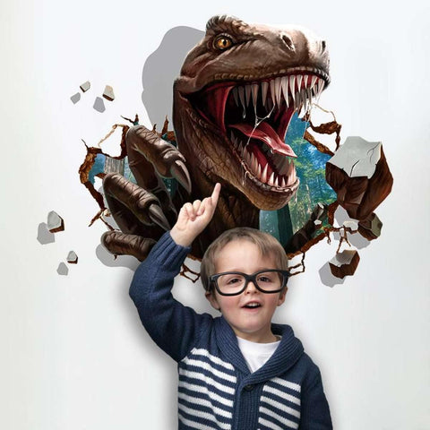 3D Dinosaur Wall Decal Trex Coming Through Wall Sticker price in Nepal