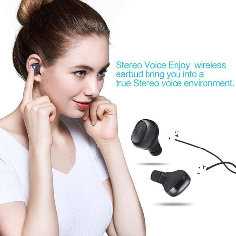 QCY Q29 Mini Dual Wireless Earbuds V4.1 Bluetooth Earbuds With Charging Case And 12 Hours Stereo Music
