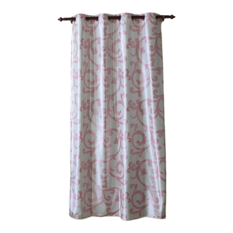 Abstract Pattern Cotton Fabric Window/Door Curtain - (Cream/Blue/Pink/Brown) price in nepal