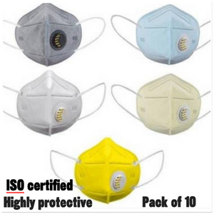ISO certified 5 layer N 95 Mask (Pack of 10)