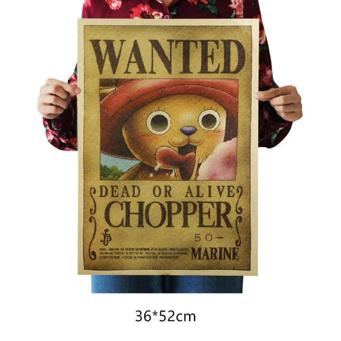 One Piece Chopper Wanted Wall Decal Home Decor Poster