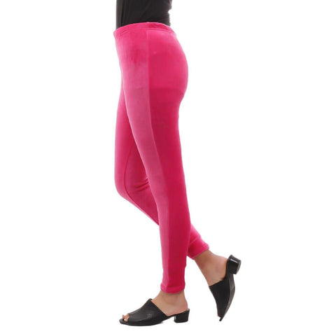 Pink Velvet Trousers For Women