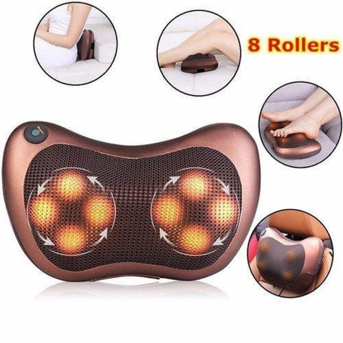 8Balls Infrared Heating Car & Home Body Massage Pillow Neck Cervical Traction Massager Car Seat Cover Relax / By Shophill price in Nepal