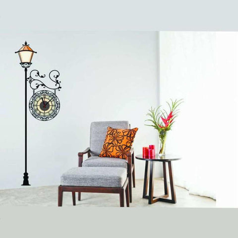 3D Creative Street Lamp Electron Clock Diy Wall Clocks Wall Sticker price in Nepal