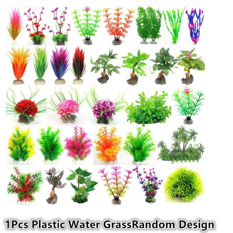 Random Design Artificial Pvc Plastic Water Grass Fish Tank Aquarium Landscaping Decor Plant price in Nepal