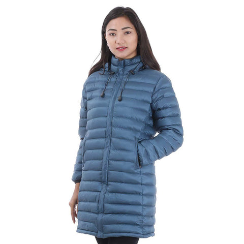 Long Silicon Hooded Jacket For Women