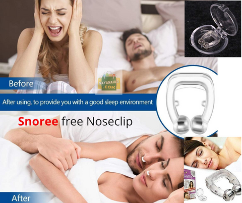 Snore Free Nose Clip | Unisex Stop Snoring Anti Snore Free Sleep Silicone Magnetic Nose Clip | Nose Clip | Anti Snoring device Set Of 1