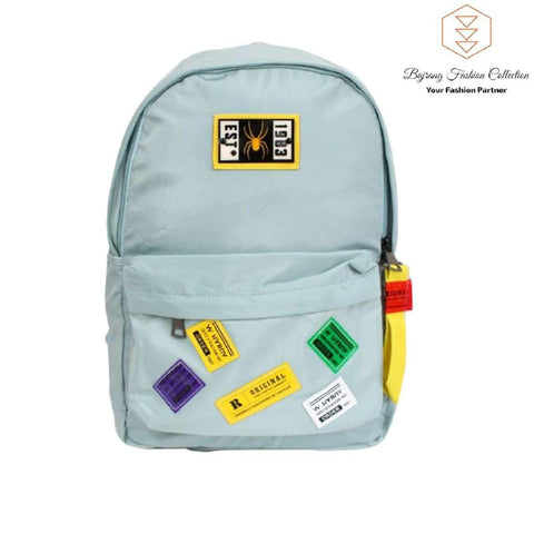 Fashion Water Resistant Nylon Women Backpack Stickers Printing School Rucksack Girls Daily College Backpack