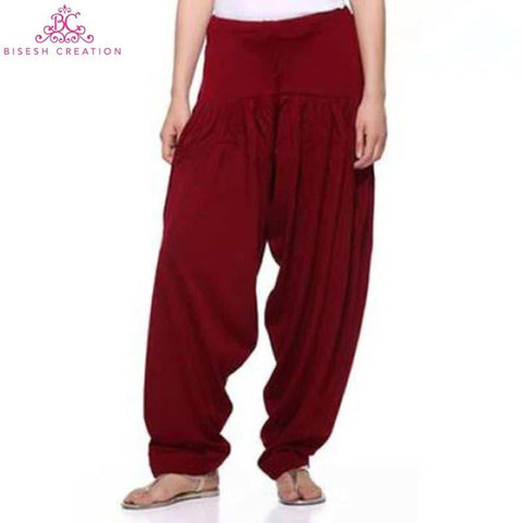 Maroon Woolen Panjabi Shalwar For Women