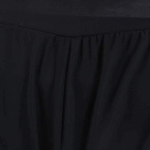 Black Solid Wide Leg Strecthable Pant For Women