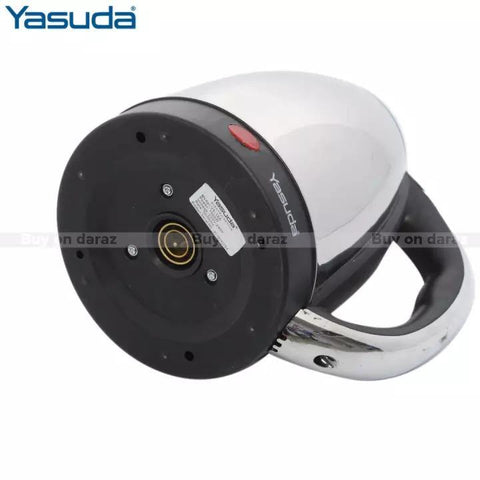 Yasuda Ys-18A 1.8Ltr Stainless Steel Electric Kettle- Steel/Black