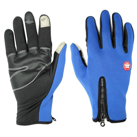 Blue Front Zippered Windstopper Gloves price in nepal