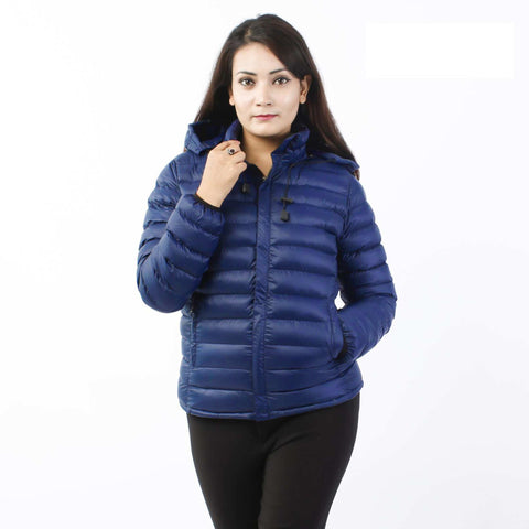 Blue Moonstar Silicon Jacket For Women