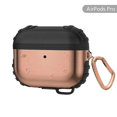 Metal silicone design Airpods Pro Heavy Duty shockproof defender Protector Cover