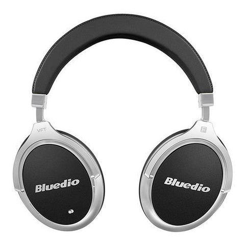 BLUEDIO F2 WIRELESS BLUETOOTH HEADPHONES WITH MIC ACTIVE NOISE CANCELLING – BLACK