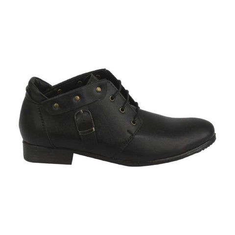 Takura Shoes Black Lace Up Lifestyle Boots For Men ((898)