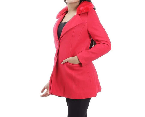 Attire Nepal Red Solid Coat For Women price in Nepal