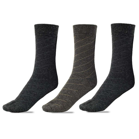 Pack Of 3 Pairs Daishu Refine Wool Socks For Men