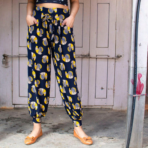 Floral Printed Cotton Plaso Styled Trousers(print may very) By Arushi