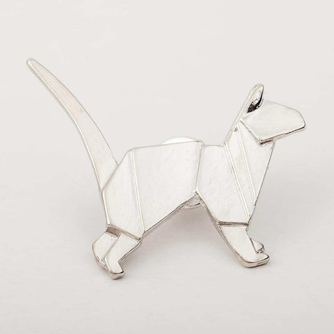 Geometric Animal Pattern Alloy Mill Puppy Brooch For Women price in Nepal