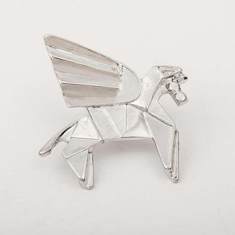 Geometric Horse Pattern Alloy Brooch For Women