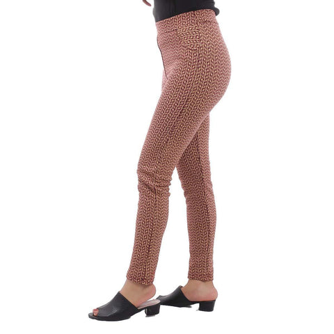 Maroon/Beige Abstract Printed Inner Fleece Pants For Women price in nepal