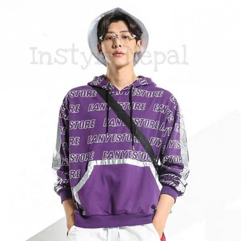 Faney Store Patchwork Printed Hoodie