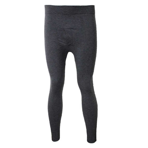 Black Solid Fleece Inside Thermal Bottom