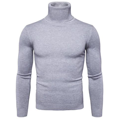 Winter Warm Turtleneck Sweater Men Fashion Solid Knitted Men Sweaters Casual Men Double Collar Slim Fit Pullover By Bajrang price in nepal
