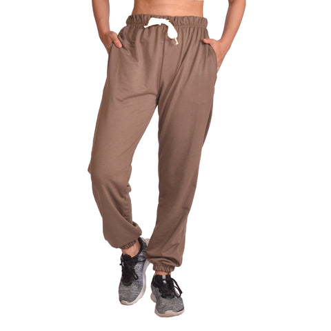 Brown Solid Joggers For Women price in nepal