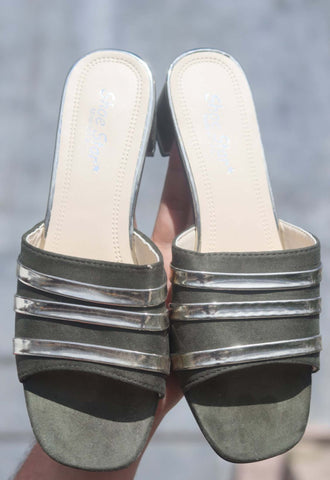 Comfortable Best Striped Heeled Sandals For Women (SP) price in nepal